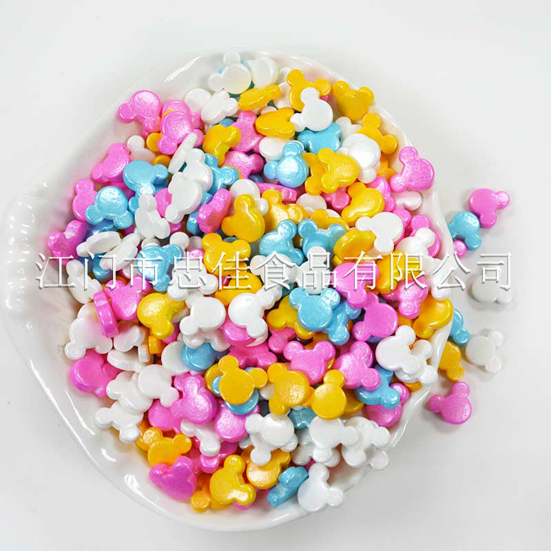 压片糖pressed candy-coloured Mickey mouse face shape